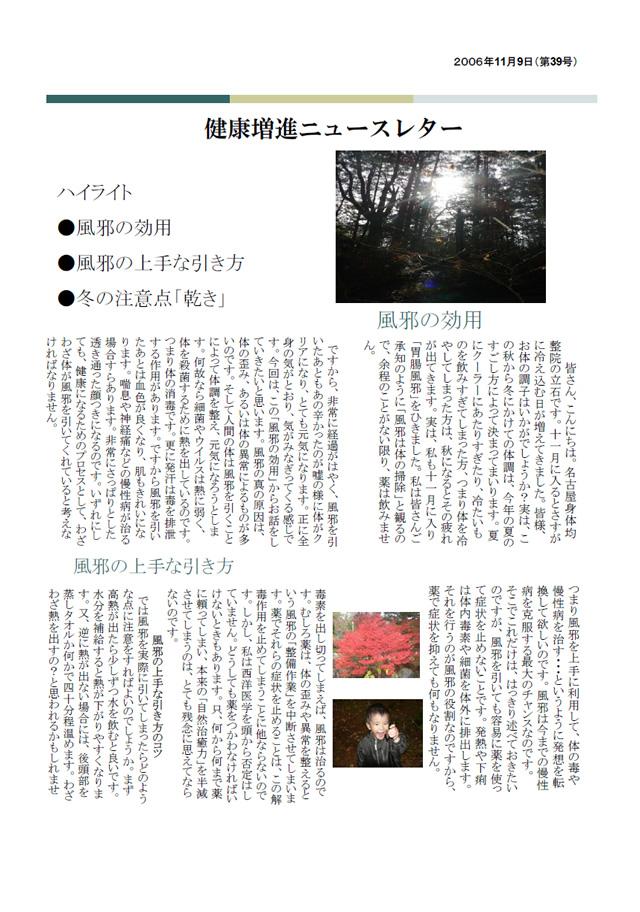ニュースレター2006年11月号