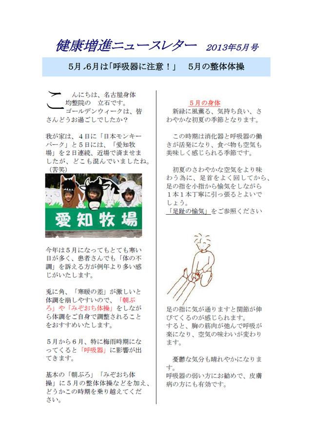 ニュースレター2013年5月号